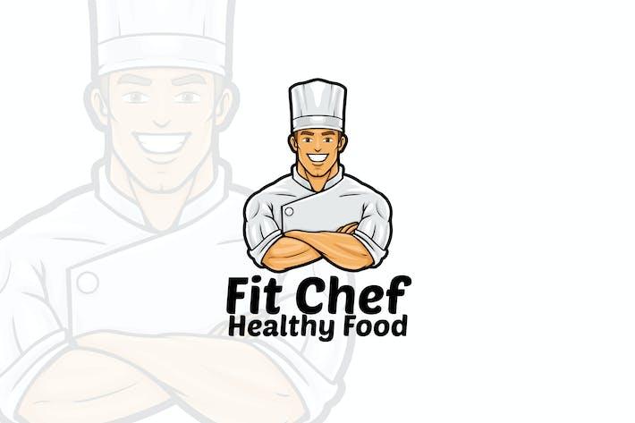 Fit Chef - Male Chef Logo Mascot