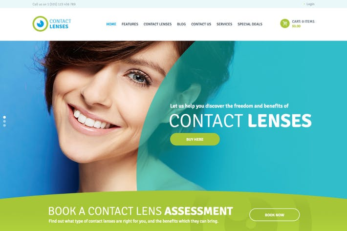 Thumbnail for Contact Lenses Store & Vision Therapy Clinic WP