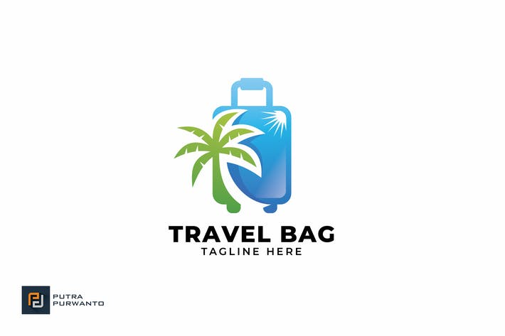 Thumbnail for Travel Bag - Logo Template