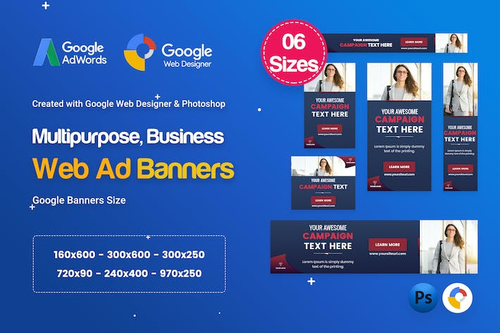 Thumbnail for Multi-Purpose Banners HTML5 D59 Ad - GWD & PSD