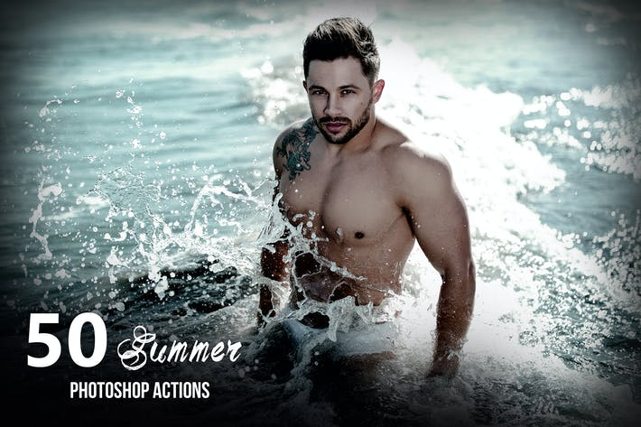 Thumbnail for 50 Summer Photoshop Actions