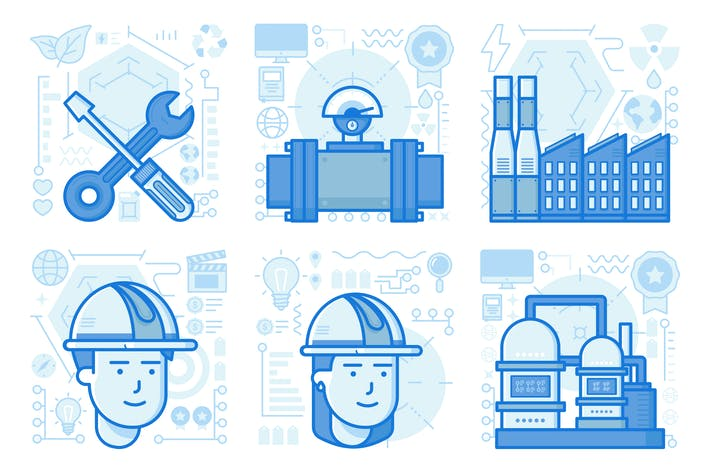 Factory UI UX Illustrations