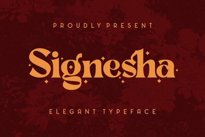 Signesha Elegant Typeface