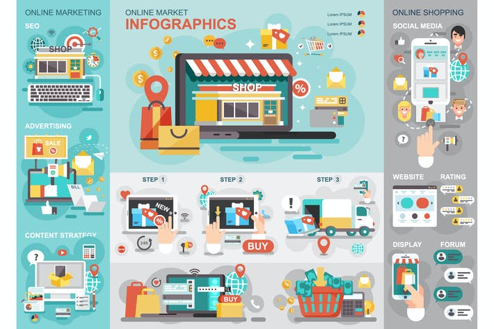 Thumbnail for Online Market Infographics