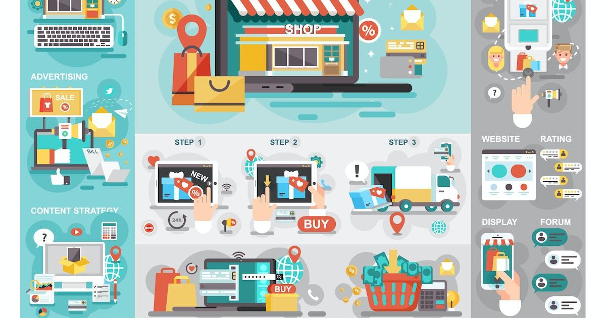 Download Online Market Infographics by alexdndz