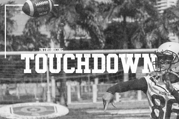 Cover Image For Touchdown Slab Font