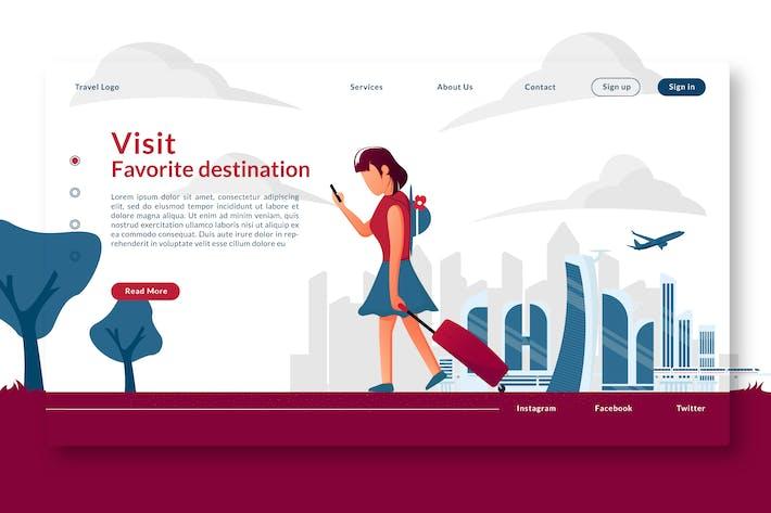 Thumbnail for Посетите избранное место назначения - Landing Page GR