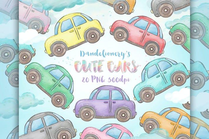 Thumbnail for Клипарт Cute Cars