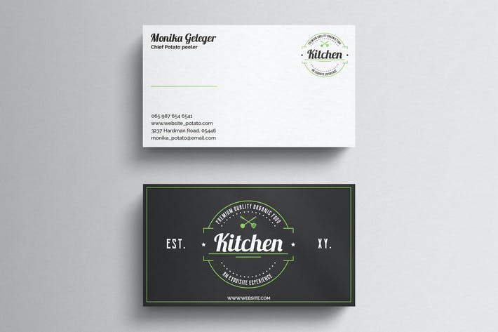 cover image for restaurant business card - Restaurant Business Card