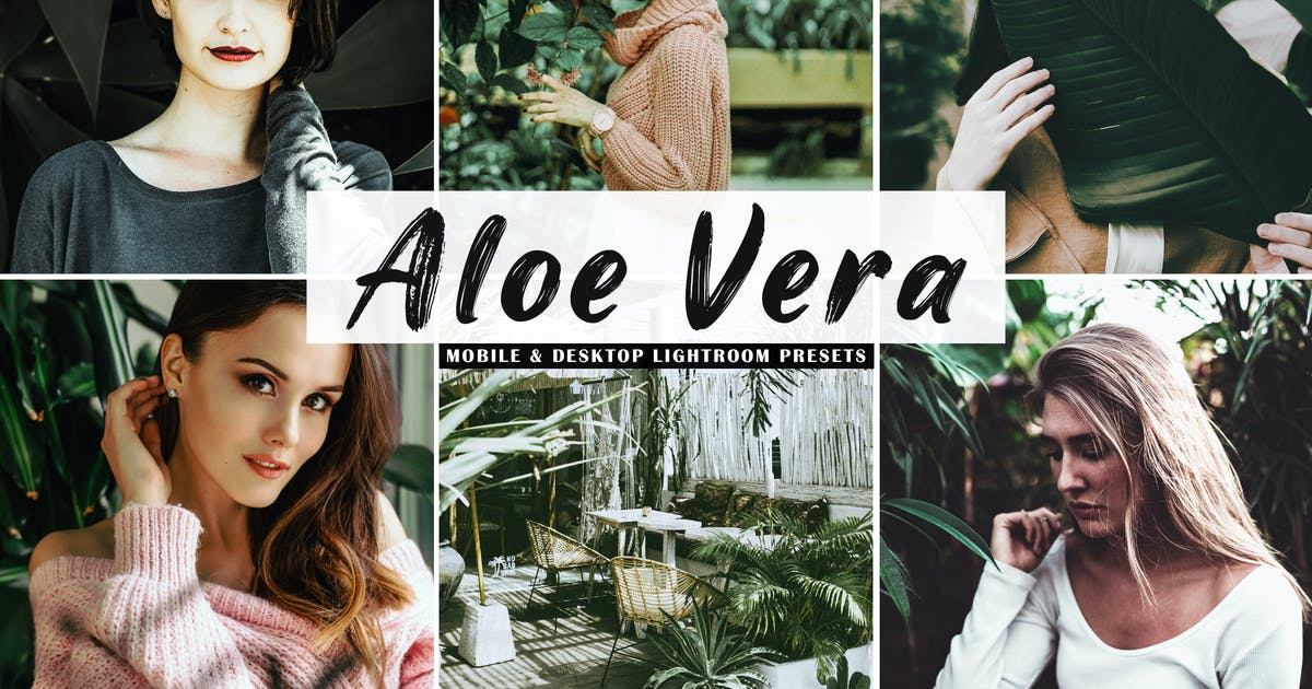 Download Aloe Vera Mobile & Desktop Lightroom Presets by creativewhoa