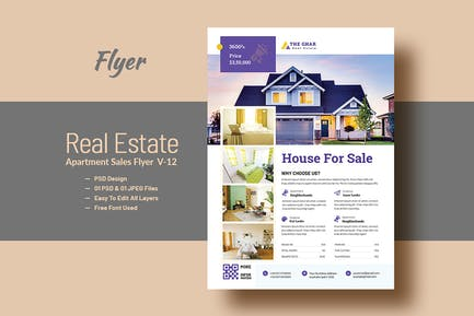 Real Estate (Apartment Sales) Flyer Template V-12