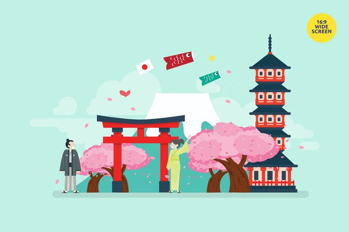 Thumbnail for Japan Tourism Vector Illustration Concept