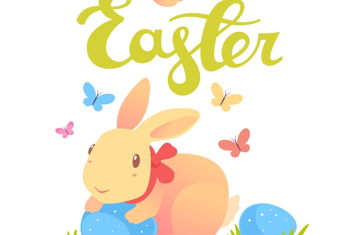 Thumbnail for Collection of Happy Easter illustrations