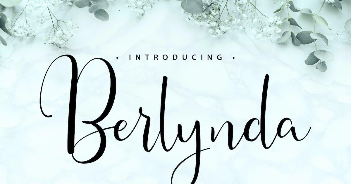 Download Berlynda | Handletering Script Font by Vunira