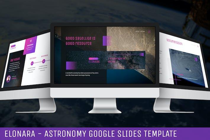 Thumbnail for Elonara - Astronomy Google Slides Template