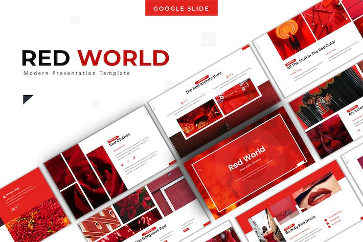 Thumbnail for Red World - Google Slide Template
