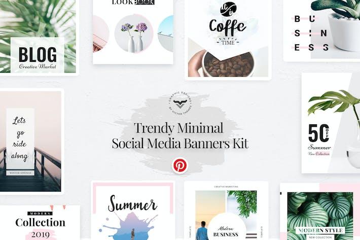 Thumbnail for Pinterest Social Media Template