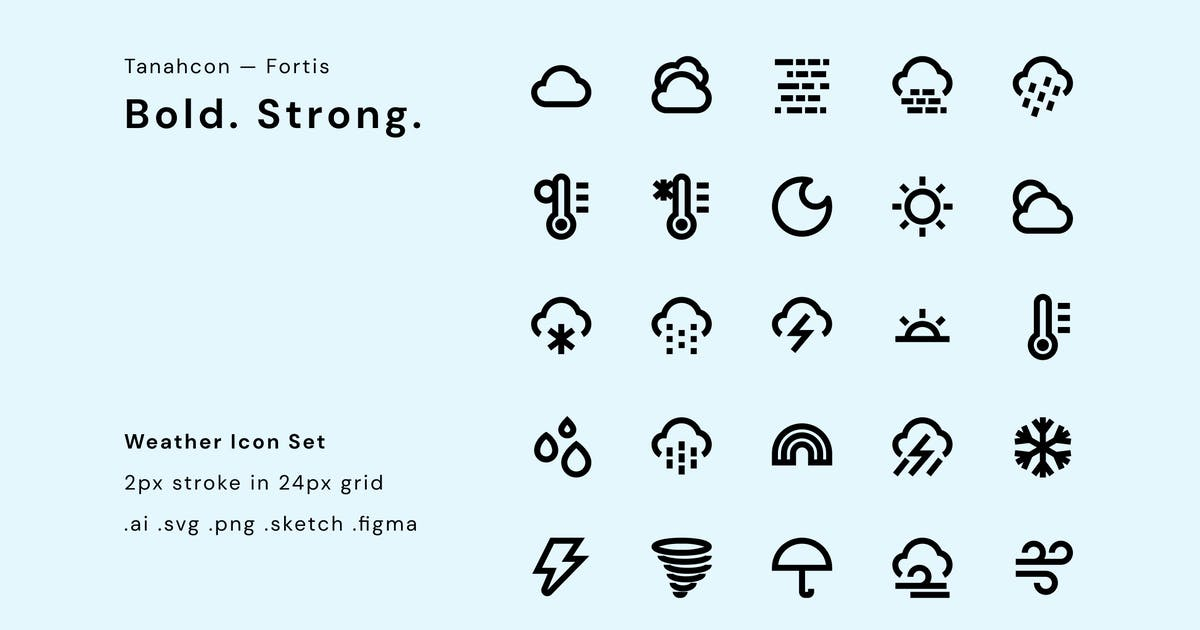 Download Weather Icon Set by TanahAirStudio