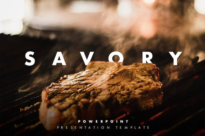 Thumbnail for Savory – Modern Restaurant PowerPoint Presentatio