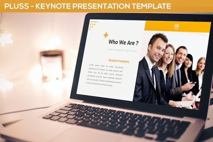 Thumbnail for Pluss - Keynote Presentation Template