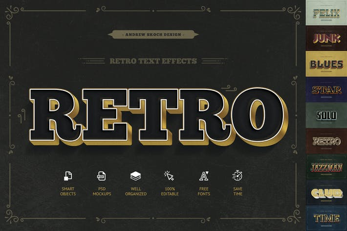 Cover Image For Retro Text Effects