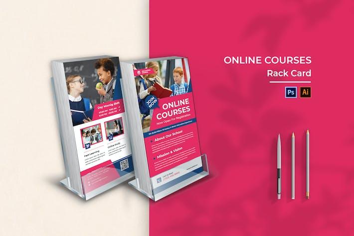 Thumbnail for Online-Kurse Rack-Karte Broschüre