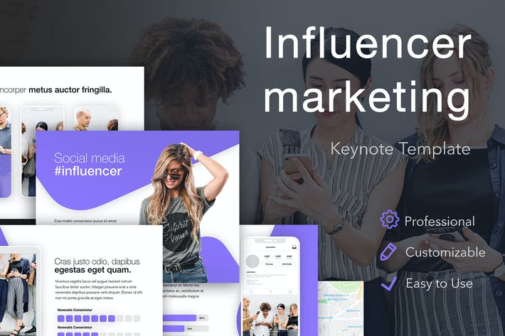 Thumbnail for Influencer Marketing Keynote Template