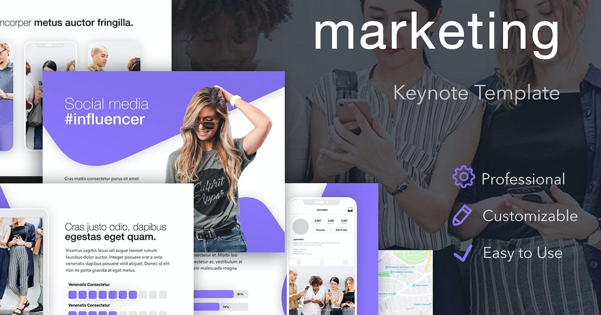 Download Influencer Marketing Keynote Template by Jumsoft