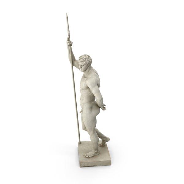 Greek Soldier Sculpture