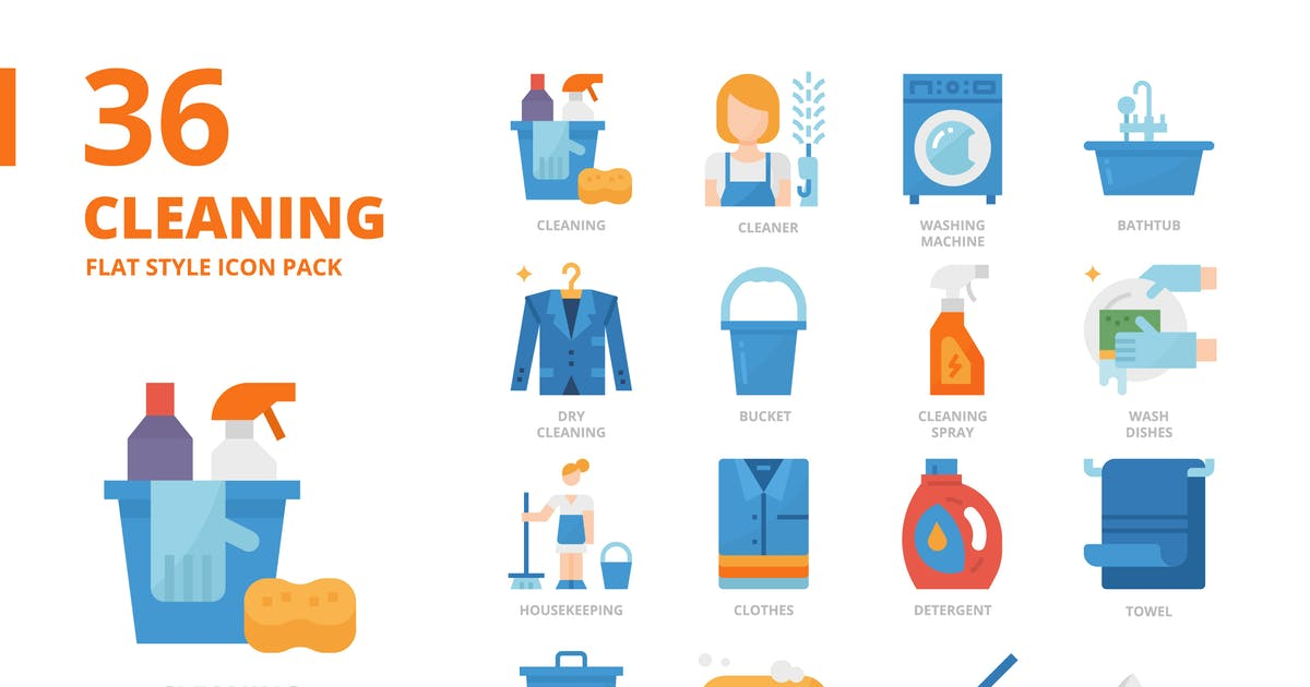 Download Cleaning Flat Style by monkik