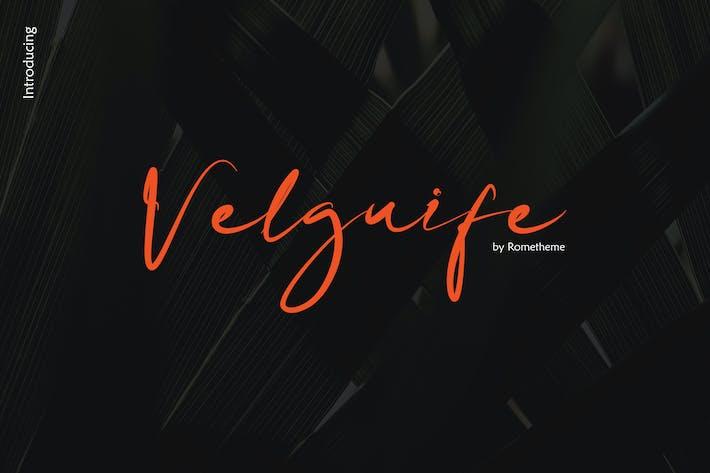 Thumbnail for Velguife Script Font YR