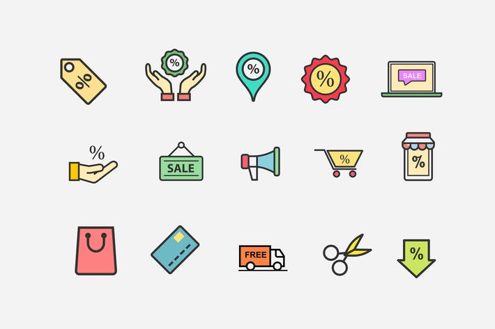 15 Sale and Discount Icons