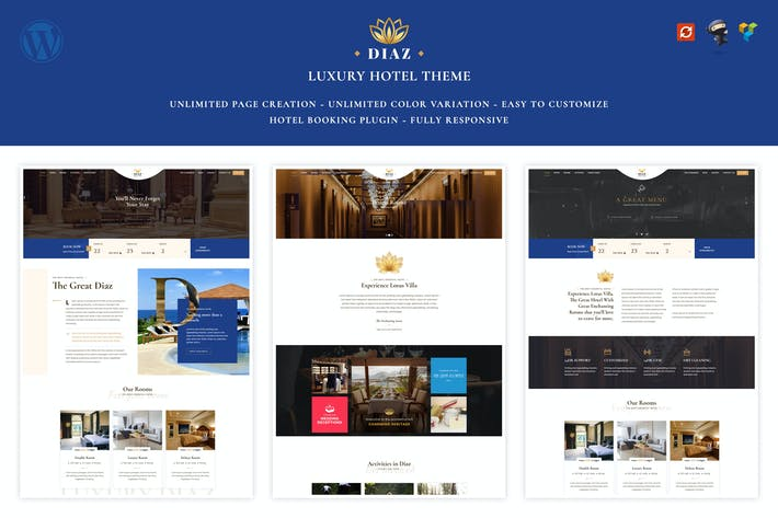 Thumbnail for Hotel Diaz - Hotel Booking Theme