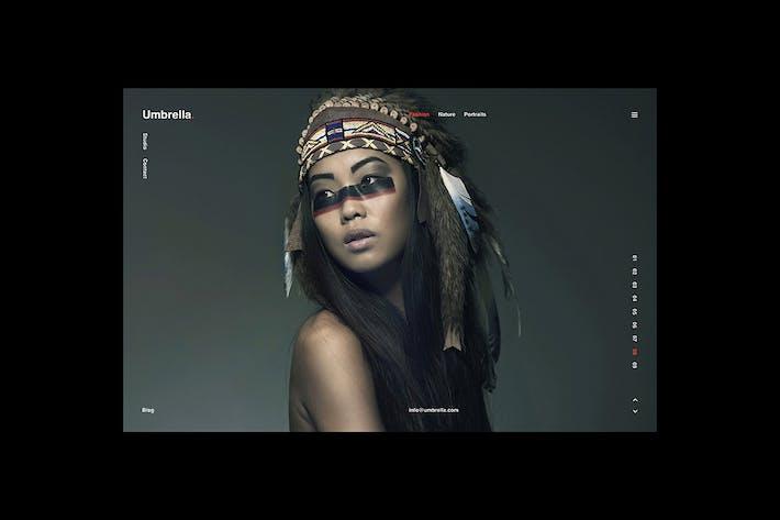 Thumbnail for Umbrella – Photography Web Template, PSD & Sketch.