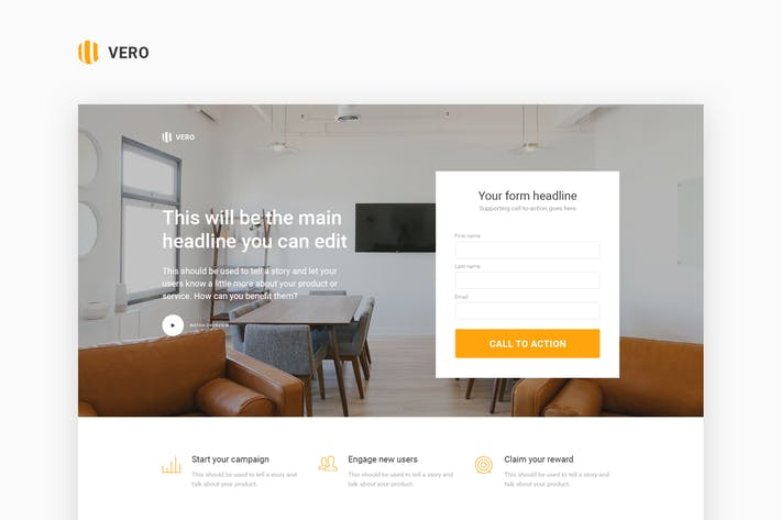 Thumbnail for Vero - Marketing Landing Page Html Template