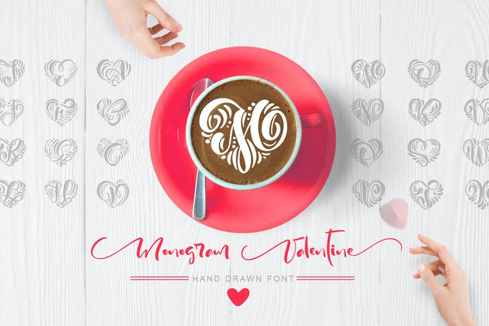Thumbnail for Monogram Valentine Font