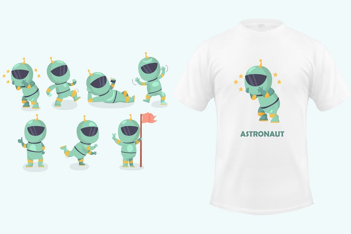 Thumbnail for Astronaut Characters Set