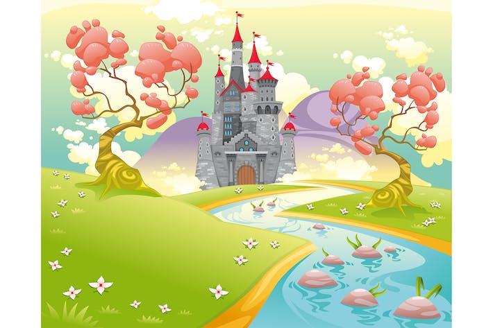 Thumbnail for Mythological Landscape with Medieval Castle