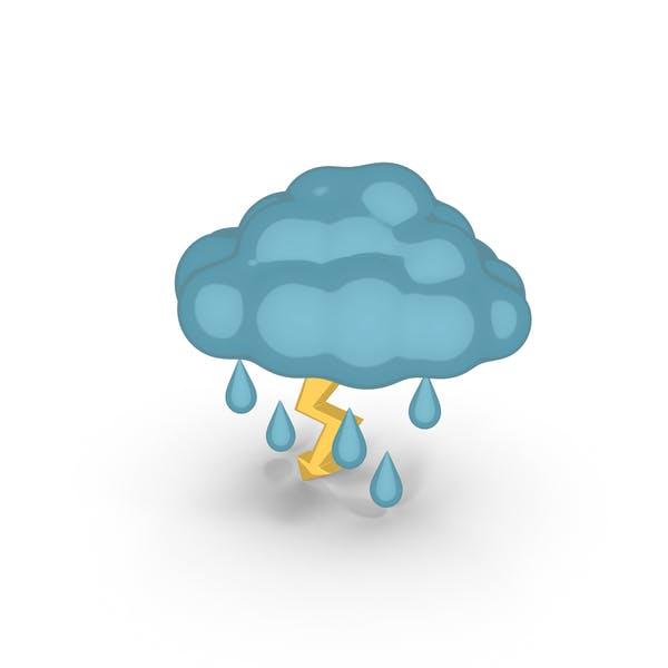 Cover Image for Cartoon Weather Forecast Thunderstorm