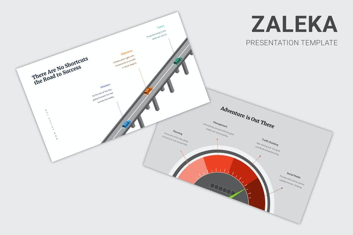 Thumbnail for Zaleka - Timeline Infographic Google Slides