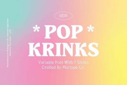 Pop Krinks - Display Serif