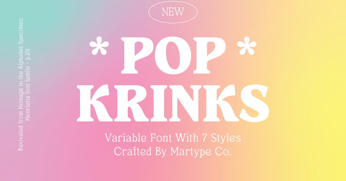 Download Pop Krinks - Display Serif by MartypeCo