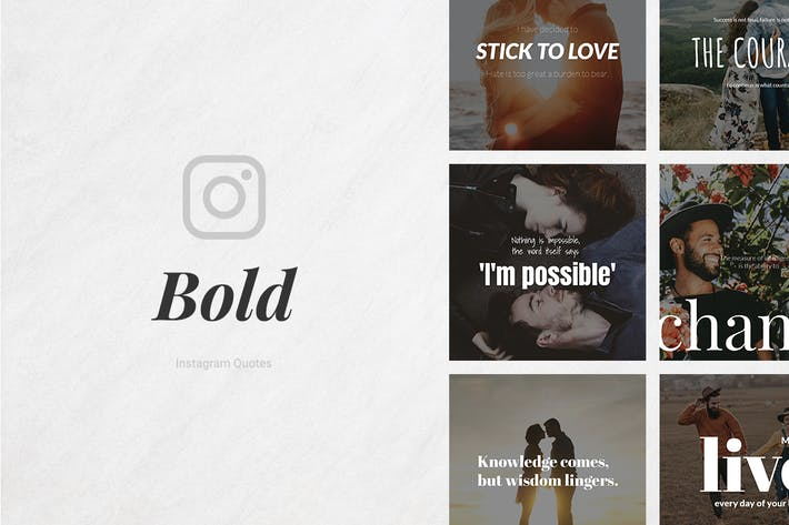 Thumbnail for Bold Instagram Quotes