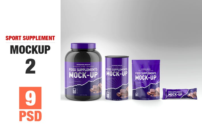 Thumbnail for Sport Supplement Package Mock-up Vol. 2