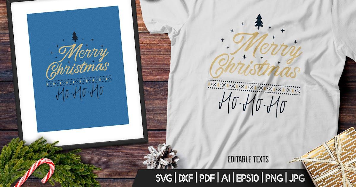 Download Merry Christmas TShirt Print Template Retro Design by JeksonJS