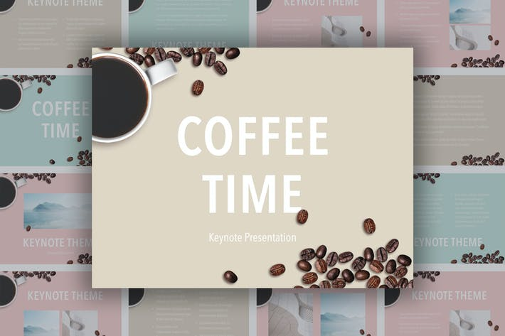Thumbnail for Coffee Time Keynote Template