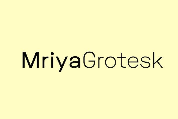 Cover Image For Mriya Grotesk - Premium Sans-Serif Typeface