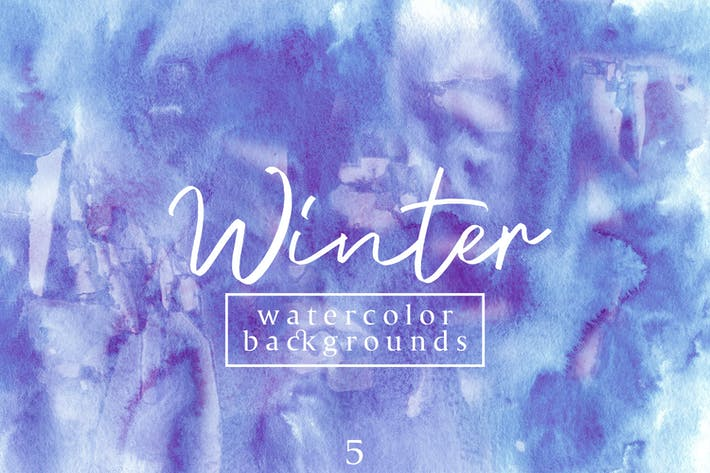Thumbnail for Winter Watercolor Backgrounds 5