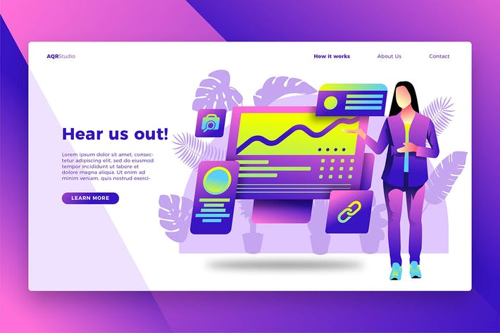 Thumbnail for Pitching Ideas - Banner & Landing Page