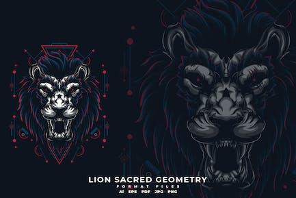 LION HEILIGE GEOMETRIE